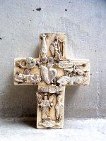 ミラグロ クロス 十字架  [タブロー ホワイト Sサイズ 9cm]