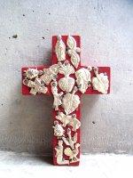 ミラグロ クロス 十字架  [タブロー レッド Mサイズ 12cm]