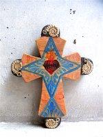 ミラグロ クロス 十字架  [コスメル オレンジ&ブルー]