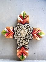 ミラグロ クロス 十字架  [コロニアル オレンジ&グラスグリーン LLサイズ 32cm]