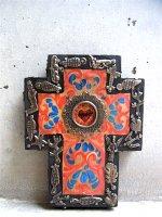 ミラグロ クロス 十字架  [アロンソ Mサイズ レッド&ブルー]