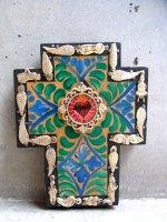ミラグロ クロス 十字架  [アロンソ Mサイズ グリーン&ブルー]