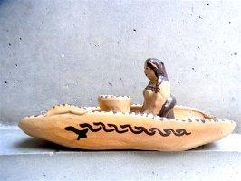 ミチョアカン 陶芸 土人形 燭台  [舟とインディヘナ]