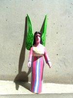 オアハカ ウッドカービング 木彫り サンチアゴ  [天使 アンヘル] Lサイズ