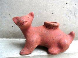 トナラ 陶芸  素焼き 土人形 [コリマ犬]  ビンテージ