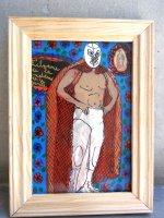 ルチャリブレ グアダルーペ アート [ Sサイズ マントのサント] マヌエル・バウメン