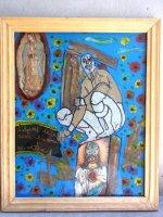 ルチャリブレ グアダルーペ アート [ Mサイズ サント&ミステリオゴッド] マヌエル・バウメン