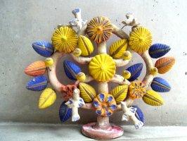 生命の樹 ツリーオブライフ メテペック [ブルー&イエロー 30cm ] ビンテージ