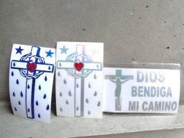 十字架 クロス カーステッカー  [カルコマニア]
