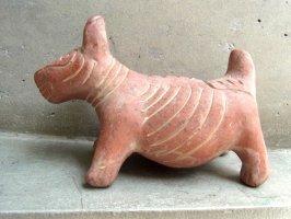 トナラ 陶芸  素焼き 土人形 [コリマ犬 赤土]
