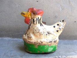 トナラ サンタクルス 陶芸  土笛 [雌鶏]  ビンテージ