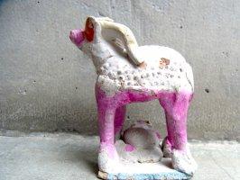 トナラ サンタクルス 陶芸  土笛 [ヤギ]  ビンテージ