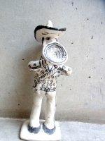 ゲレーロ  陶芸 漆喰人形 [サックス奏者] ビンテージ