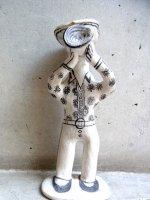 ゲレーロ  陶芸 漆喰人形 [トランペット奏者] ビンテージ