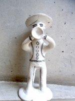 ゲレーロ  陶芸 漆喰人形 [トランペット奏者 その2] ビンテージ