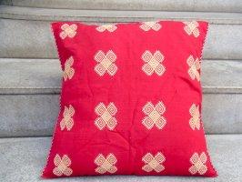 チアパス 刺繍 クッションカバー [赤 カラコル] ララインサール