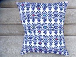 チアパス 刺繍 クッションカバー [白/青 マリポーサ] ララインサール