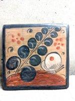 トナラ 陶芸 ブルニード [陶板 草と蝶] ビンテージ