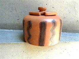 ペルー クスコ陶芸  [ウルバンバ シュガーポット] 世界の民芸