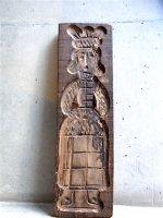 ヨーロッパ 木製菓子型  [聖人像 ] ビンテージ