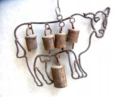 カウベル 鈴 オーナメント  [ニューメキシコの牛] ビンテージ
