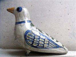 トナラ 陶芸 オブジェ [大きな鳩] B品
