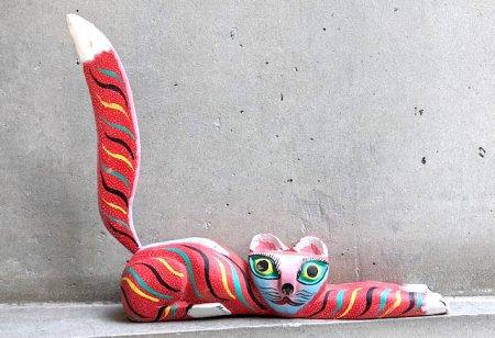オアハカ 木彫り人形 ティルカヘテ [L・S・カルボ 赤猫]