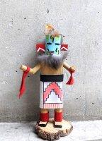 ナバホ アリゾナ カチナドール  [17cmサイズ 戦士] ココペリ