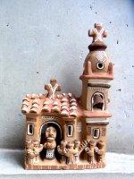 ペルー プカラ 陶芸  [土の教会] 世界の民芸