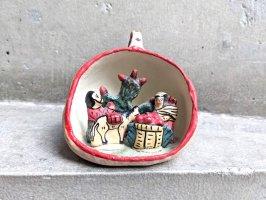 ペルー 陶芸 ニチョ  [ミニチュア リンゴを摘む夫婦]  ビンテージ