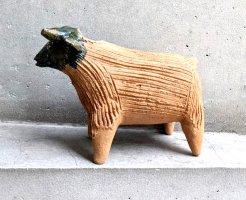 オアハカ アツォンパ 陶器 チア人形  [牛 18cm]