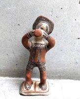 ゲレーロ  陶芸 テラコッタ人形 [ラッパ飲みの男] ビンテージ