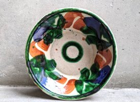 オアハカ 陶器 ドリップウェア [三彩椀 ボウル] ビンテージ