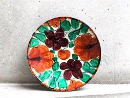 オアハカ 陶器 ドリップウェア [三彩花 丸皿 プレート] ビンテージ