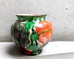 オアハカ 陶器 ドリップウェア [三彩小壺 ベース 花器] ビンテージ