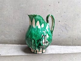 オアハカ 陶器 ドリップウェア [緑落彩 ジャグ ピッチャー] ビンテージ