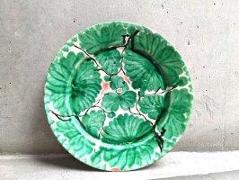 オアハカ 陶器 ドリップウェア [緑彩葉模様 リーフ] ビンテージ