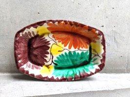 オアハカ 陶器 ドリップウェア [三彩花落柄 バテア] ビンテージ