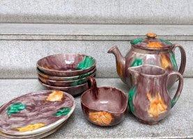 オアハカ 陶器 ドリップウェア [プレート,ボウル&ピッチャー 10Pセット] ビンテージ
