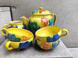 オアハカ 陶器 ドリップウェア [ティーカップ&ピッチャー 6Pセット イエロー] ビンテージ