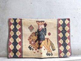北欧 デンマーク 型染めジュート  [馬に乗った王様]