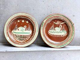トナラ 陶器  丸皿  [プレート 水辺の鳥 20cm]  ビンテージ
