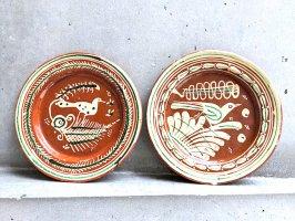 トナラ 陶器  丸皿  [プレート ハチドリ20cm]  ビンテージ