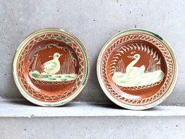 トナラ 陶器  丸皿  [プレート ヒヨコとアヒル 20cm]  ビンテージ