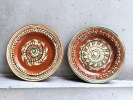 トナラ 陶器  丸皿  [プレート 花の渦 20cm]  ビンテージ