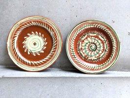 トナラ 陶器  丸皿  [プレート 花の渦その2 20cm]  ビンテージ