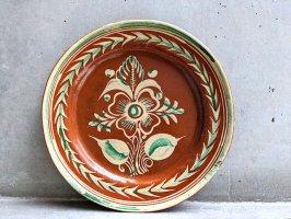 トナラ 陶器  丸皿  [プレート 花咲絵 30cm]  ビンテージ