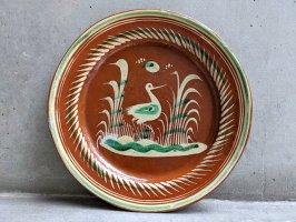 トナラ 陶器  丸皿  [プレート 水鳥 30cm]  ビンテージ
