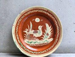 トナラ 陶器  丸皿  [プレート 水鳥 その2 30cm]  ビンテージ