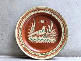 トナラ 陶器  丸皿  [プレート 水鳥 その3 30cm]  ビンテージ